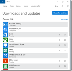 Microsoft Store is updating all apps